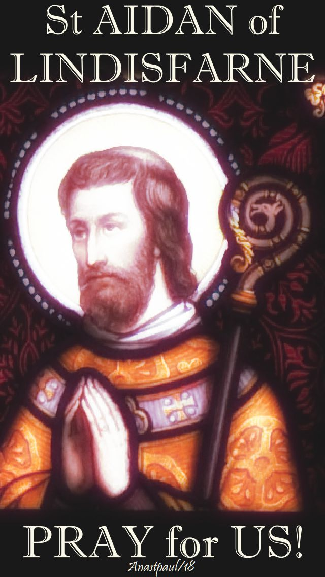 st aidan of lindisfarne pray for us 31 aug 2018