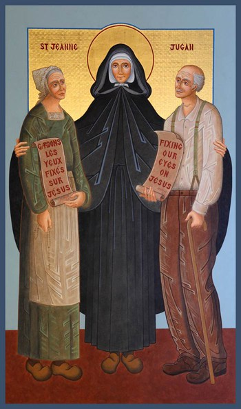 st jeanne jugan with the elderly icon