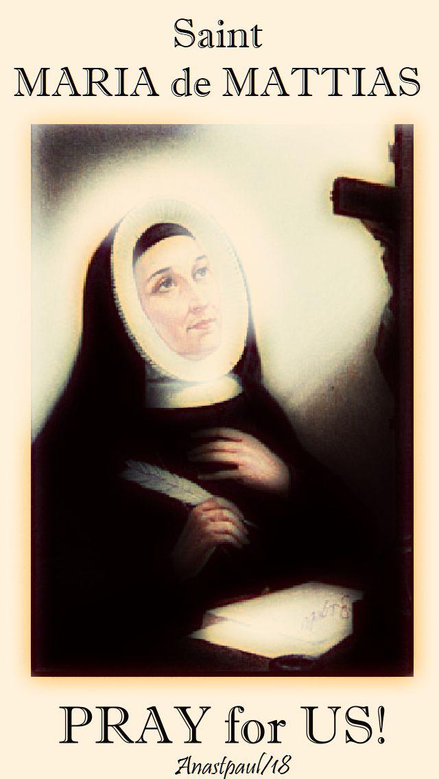 st maria de mattias pray for us - 20 aug 2018