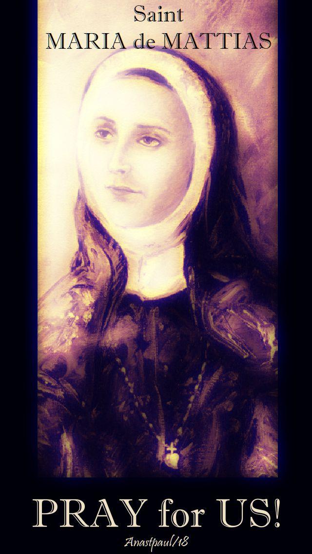 st maria de mattias pray for us no 2 - 20 aug 2018