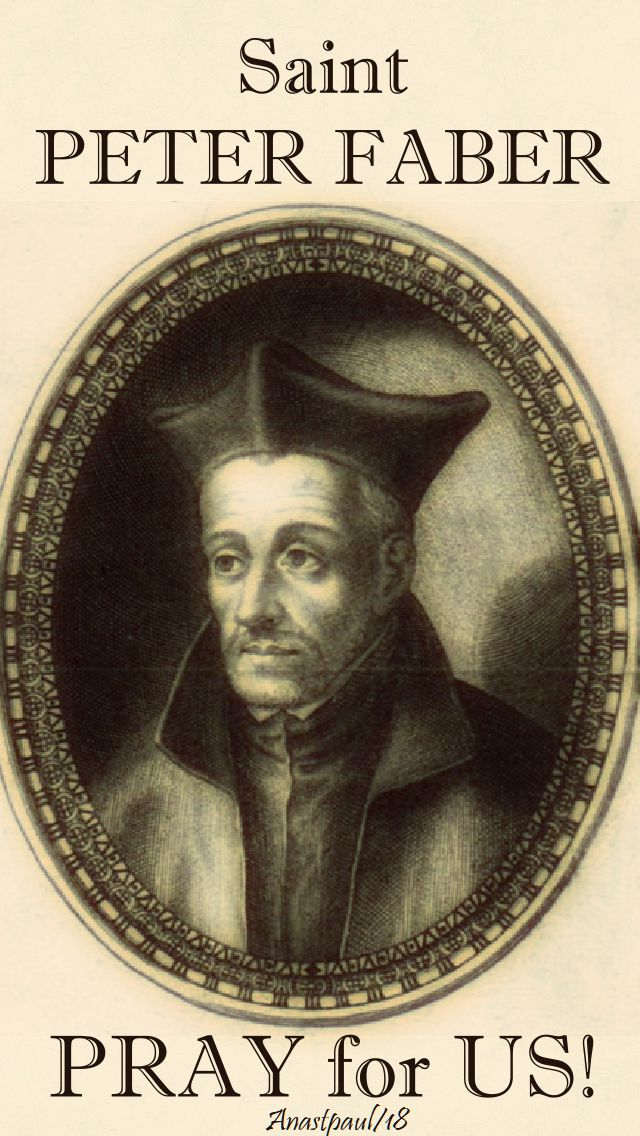 st peter faber pray for us - 2 aug 2018