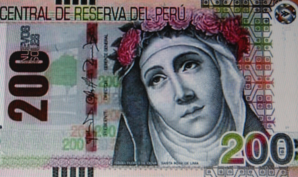 St Rose of Lima - 1024px-Biljete200soles