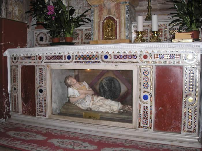 tarcissius statue grave