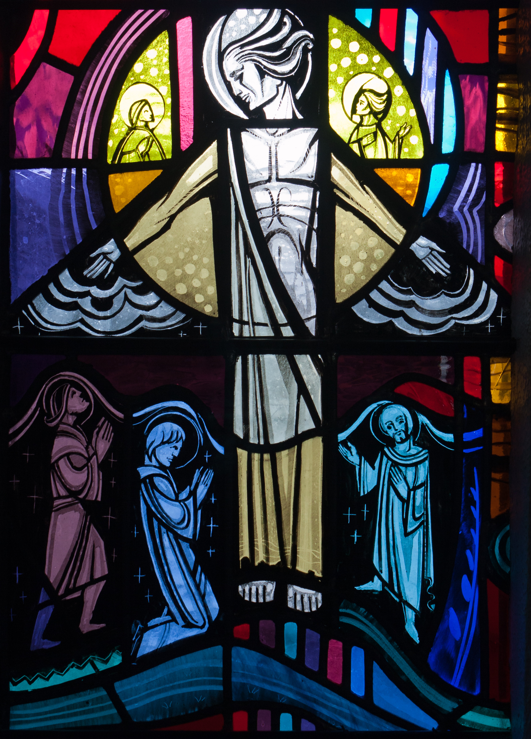 Tullow_Church_of_the_Most_Holy_Rosary_South_Transept_Window_Mysteries_of_Light_and_Pope_John_Paul_II_Detail_Transfiguration_2013_09_06