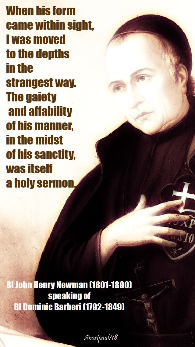 when his form came within sight - bl john henry on bl dominic barberi - 27 aug 2018-2