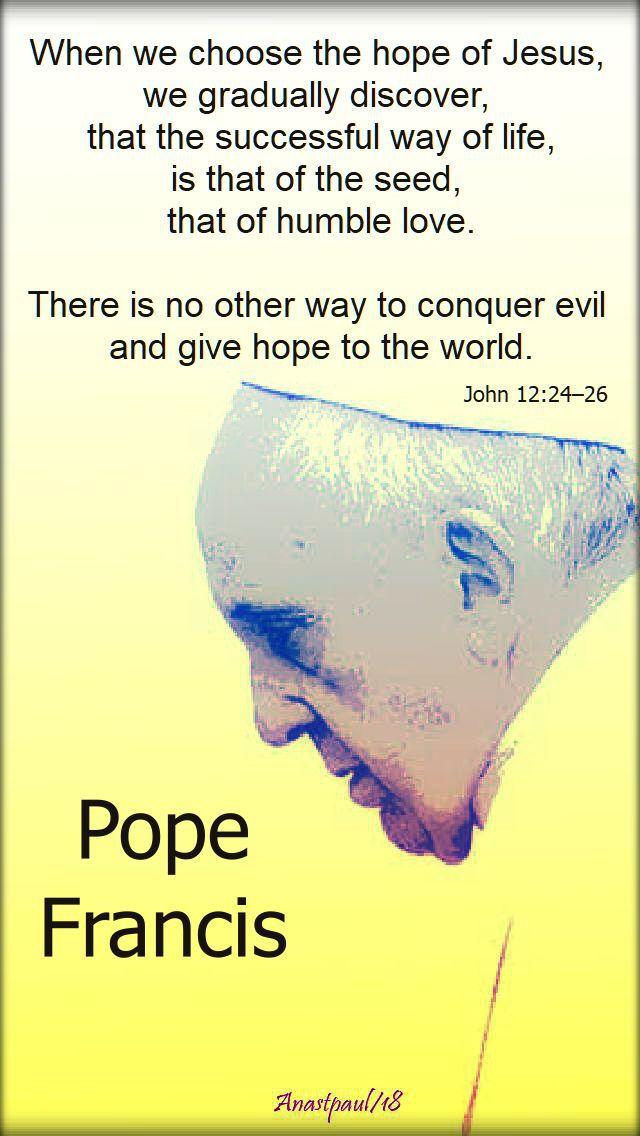 when we choose the hope of jesus - john 12 24-26 - pope francis - 10 aug 2018.jpg