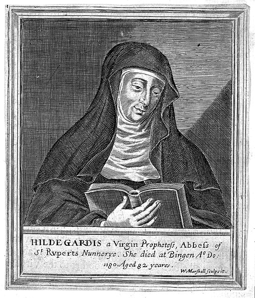 514px-Engraving;_German_abbess_and_physician_Hildegard_von_Bingen_Wellcome_L0005783