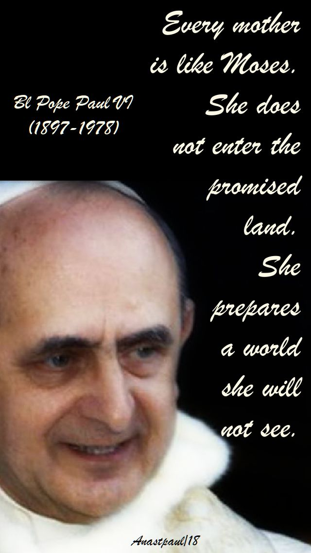 every mother - paul VI - 26 sept 2018