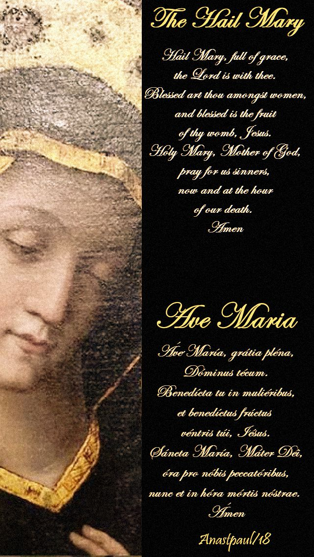 hail mary and ave maria -28 september 2018 st simon de rojas Fr ave Maria - no 2