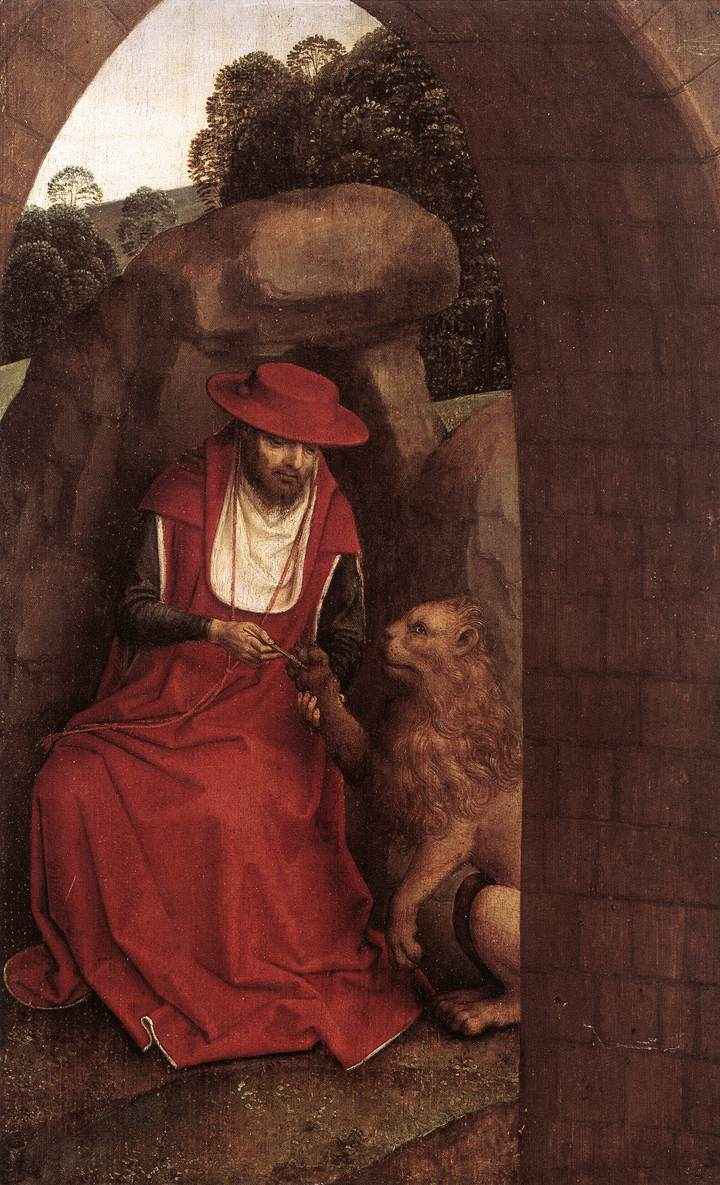 Hans_Memling_-_St_Jerome_and_the_Lion - YOUNGER_-_WGA14946