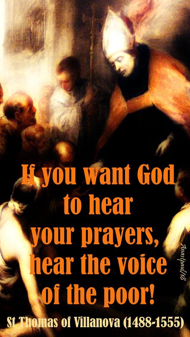 id you want god to hear your prayers - st thomas of villanova - 22 sept 2018