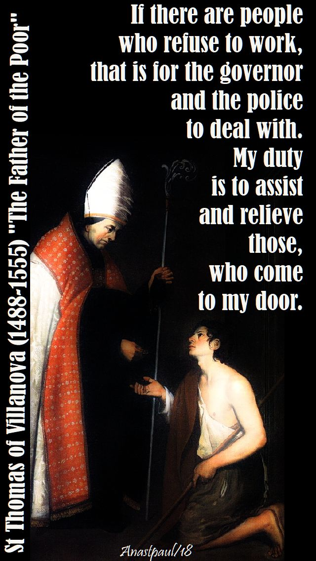 if there are people who refuse - st thomas of villanova - 22 sept 2018