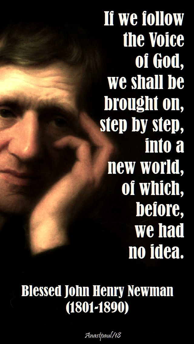 if we follow the voice of god - bl john henry newman - 28 sept 2018