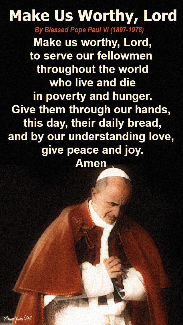 make us worthy lord - 26 september 2018 - bl popepaul VI