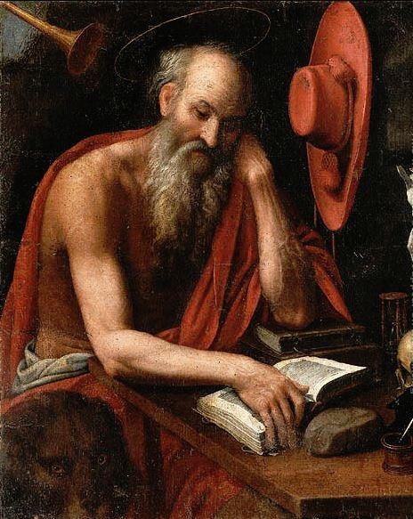 NORTH ITALIAN SCHOOL - ST JEROME - SNIP DETAIL