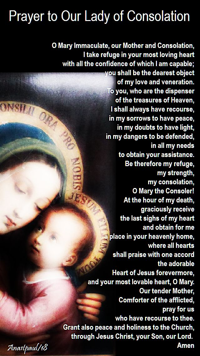 prayer top our lady of consolation - 4 september 2018