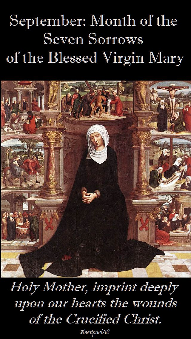 sept month of the seven sorrows - 1 sept 2018