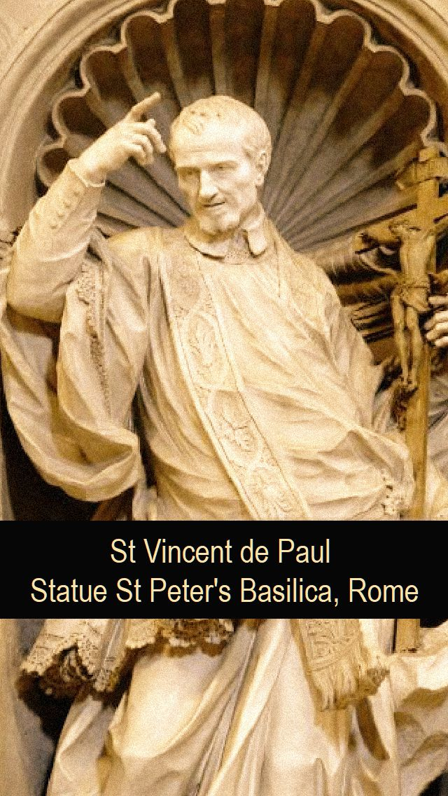 st vincent de paul statue at st peter's