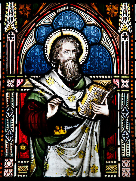 Stained Glass Window depicting Saint Matthew