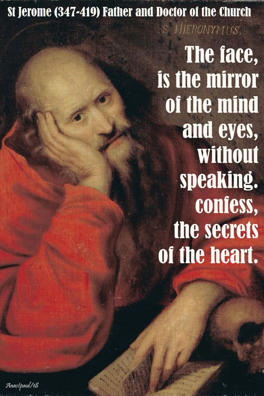 the face is the mirror - st jerome - 30 sept 2018