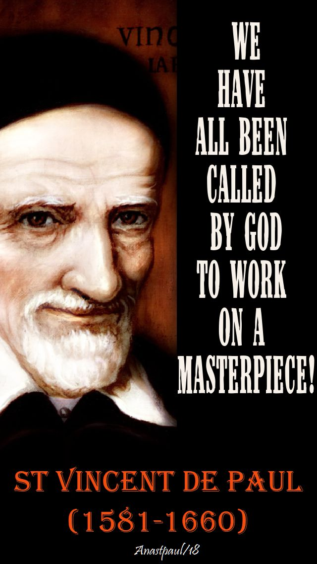we have all been called - st vincent de paul - 27 sept 2018
