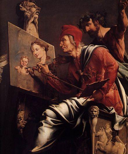 638px-Maarten_van_Heemskerck_-_St_Luke_Painting_the_Virgin_and_Child_(detail)_-_WGA11300