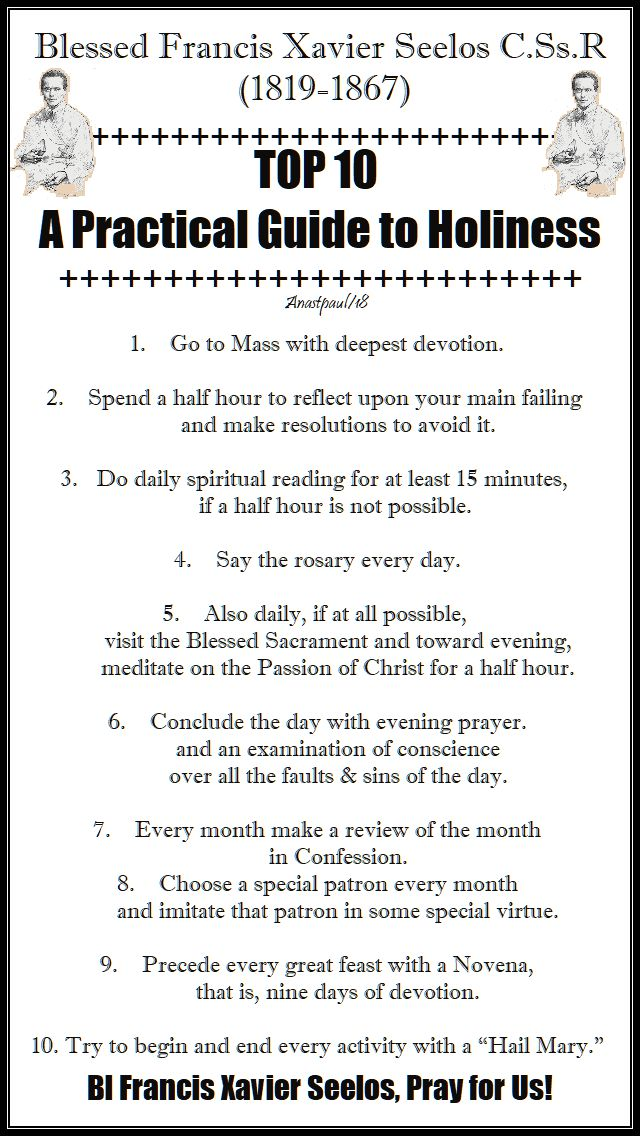 bl francis xavier seelos - top ten tips a pactical guide to holiness - 5 oct 2018