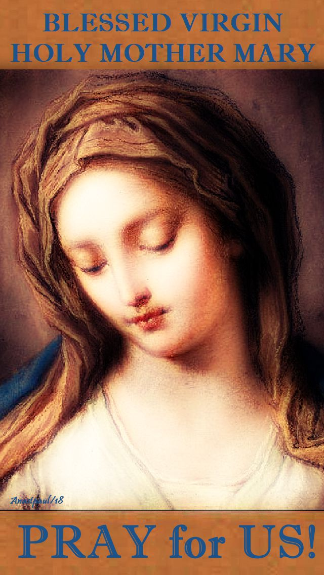 blessed virgin holy mother mary pray for us 14 oct 2018