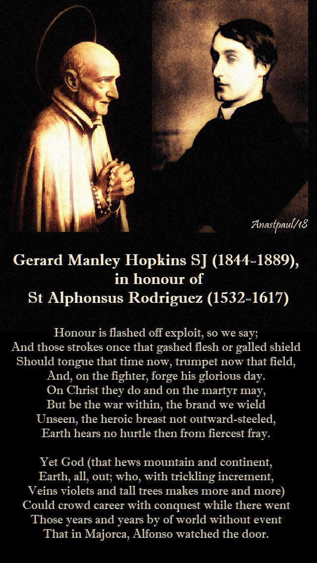 gerard manley hopkins in honour of st alphonsus rodriguez - 31 oct 2018