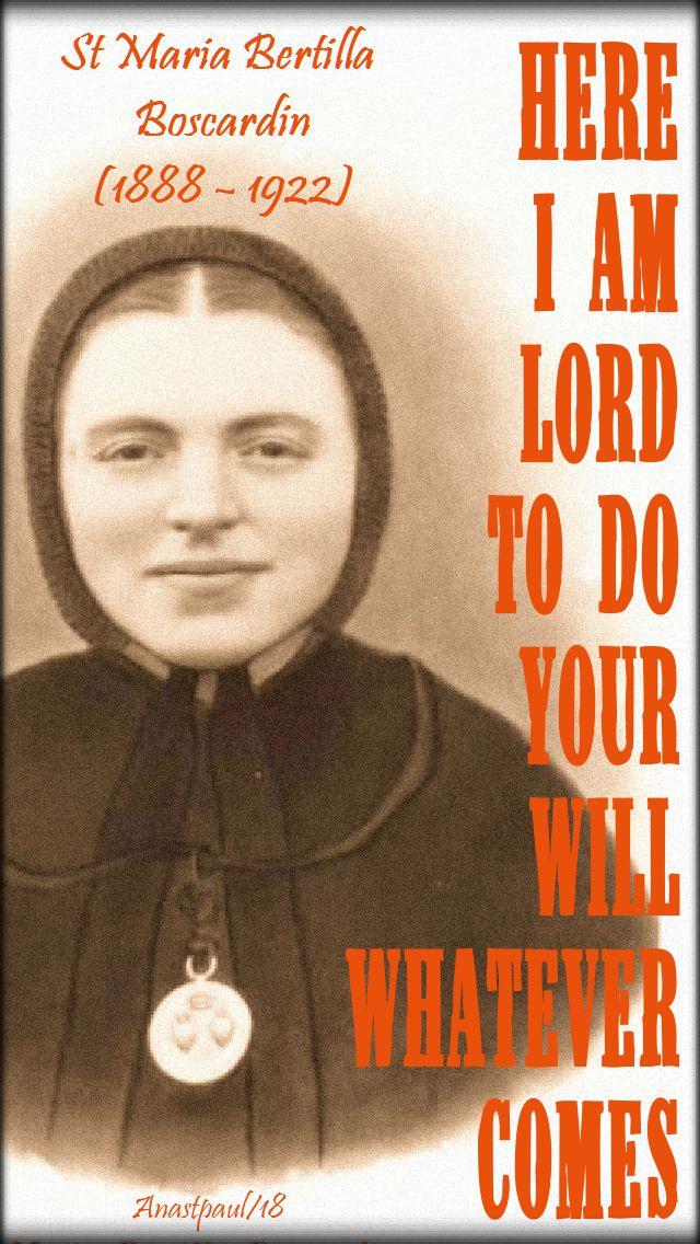 here i am lord - st maria bertilla boscardin - no 2 - 20 oct 2018