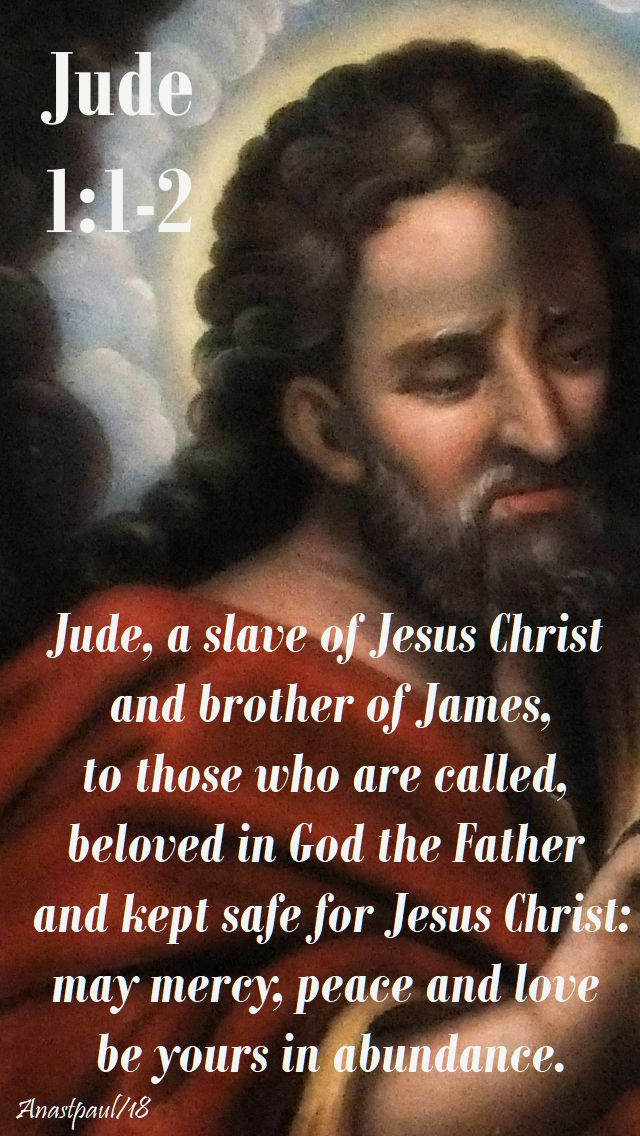 jude 1 1-2 - jude a slave of jesus christ - 28 oct 2018
