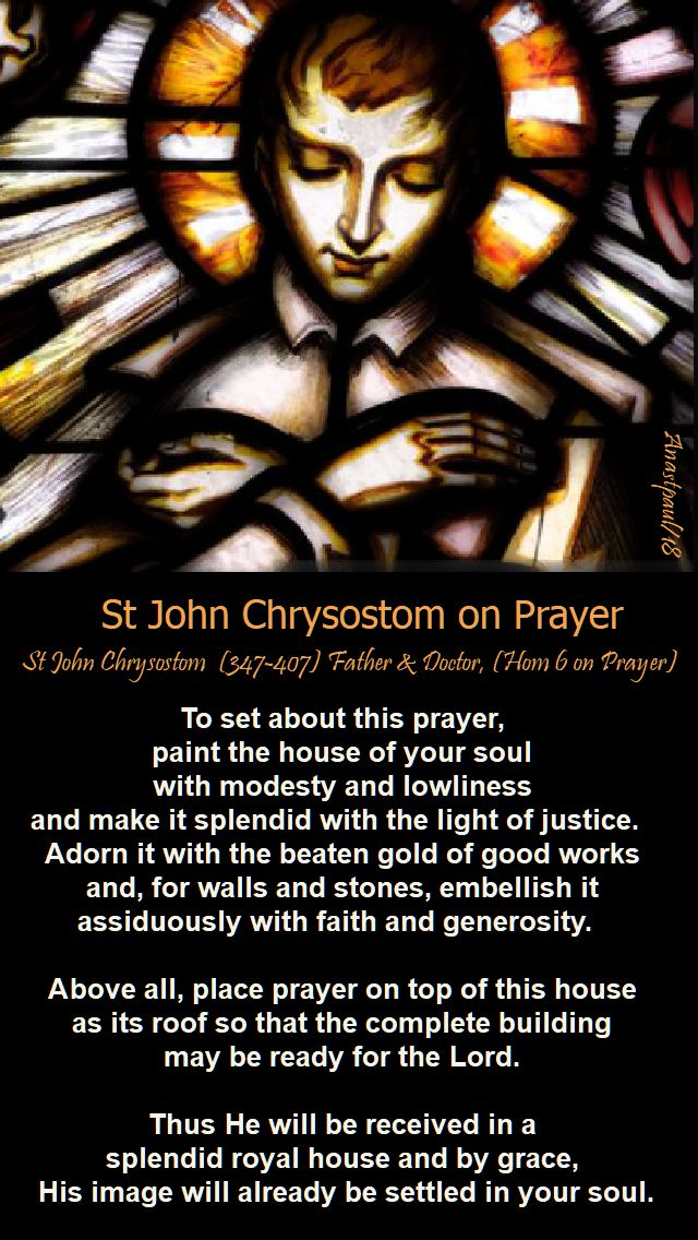 st john chrysostom on prayer - 26 oct 2018