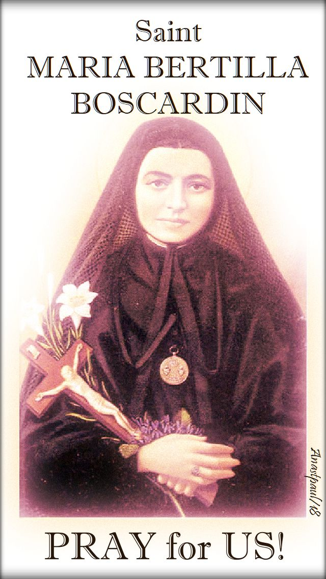 st maria bertilla boscardin pray for us 2 - 20 oct 2018