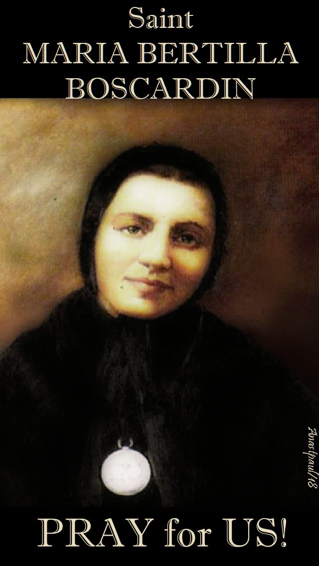 st maria bertilla boscardin pray for us - 20 oct 2018