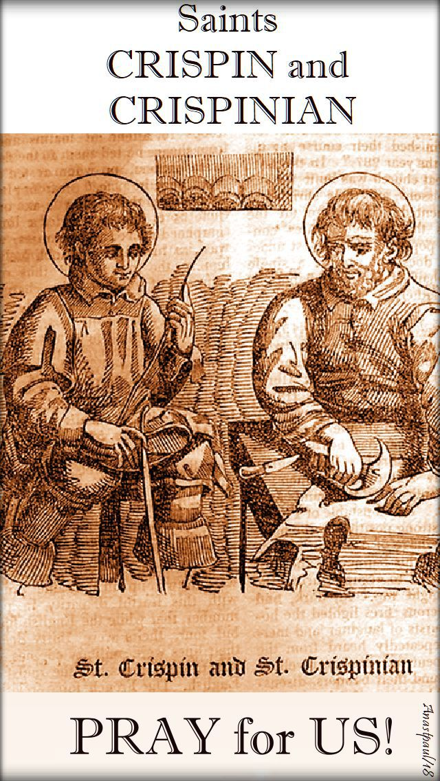 sts crispin & crisp[inian pray for us - 25 oct 2018