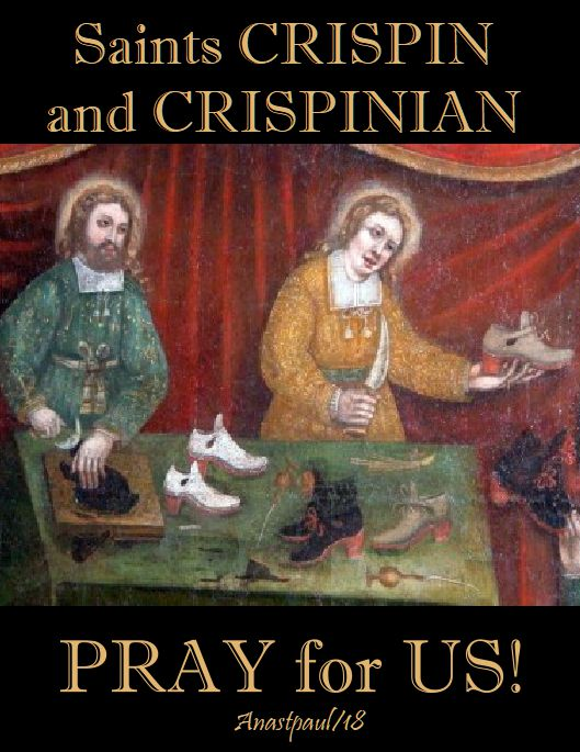 sts crispin & crisp[inian pray for us NO 2 - 25 oct 2018