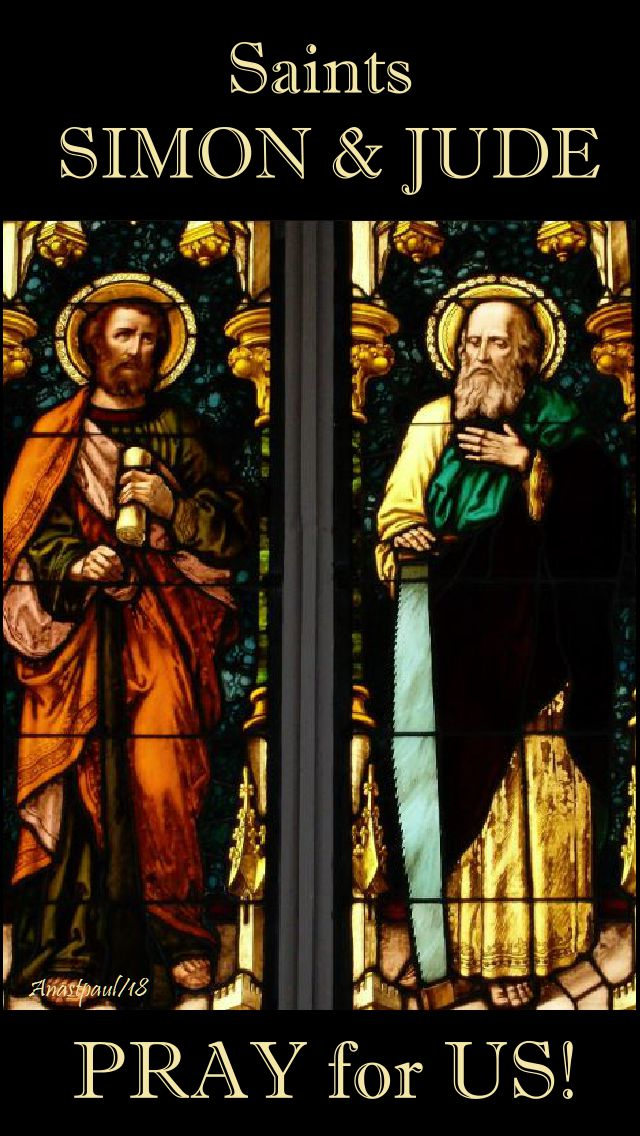 sts simon and jude pray for us 29 oct 2018