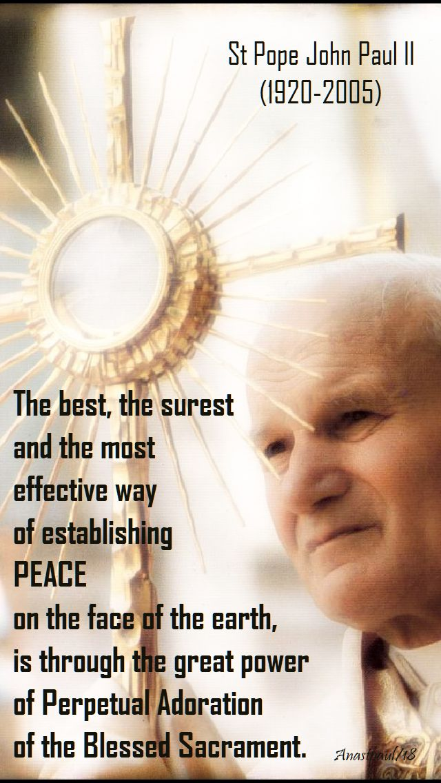 the best, the surest way - st john paul - 22 oct 2018