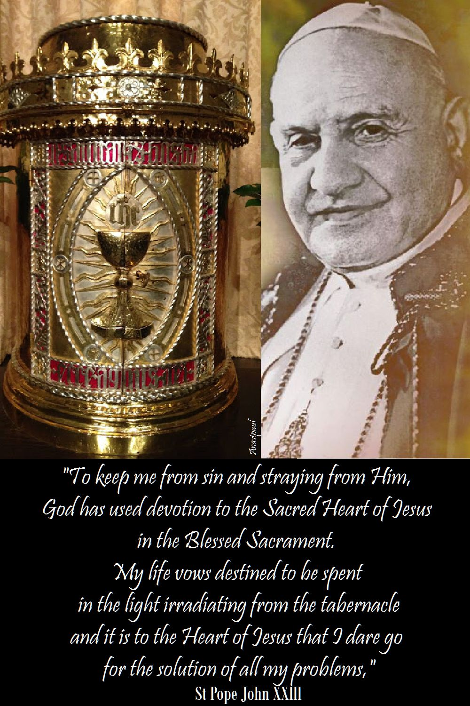 to keep me from sin - st pope john xxIII