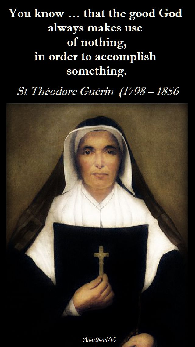 you know that the good god - st theodore guerin - 3 oct 2018