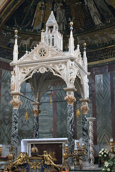 400px-Ciborium_of_Santa_Cecilia_in_Trastevere