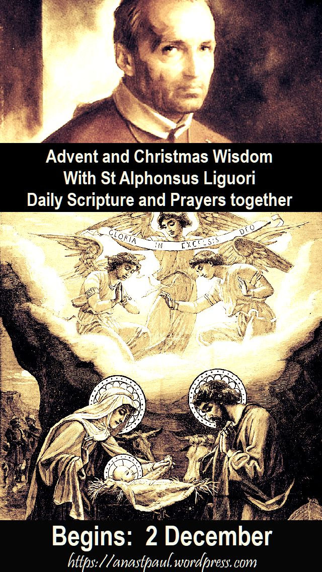 advent and christmas wisdom together with st alphonsus begins 2 december - posted 26 nov 2018