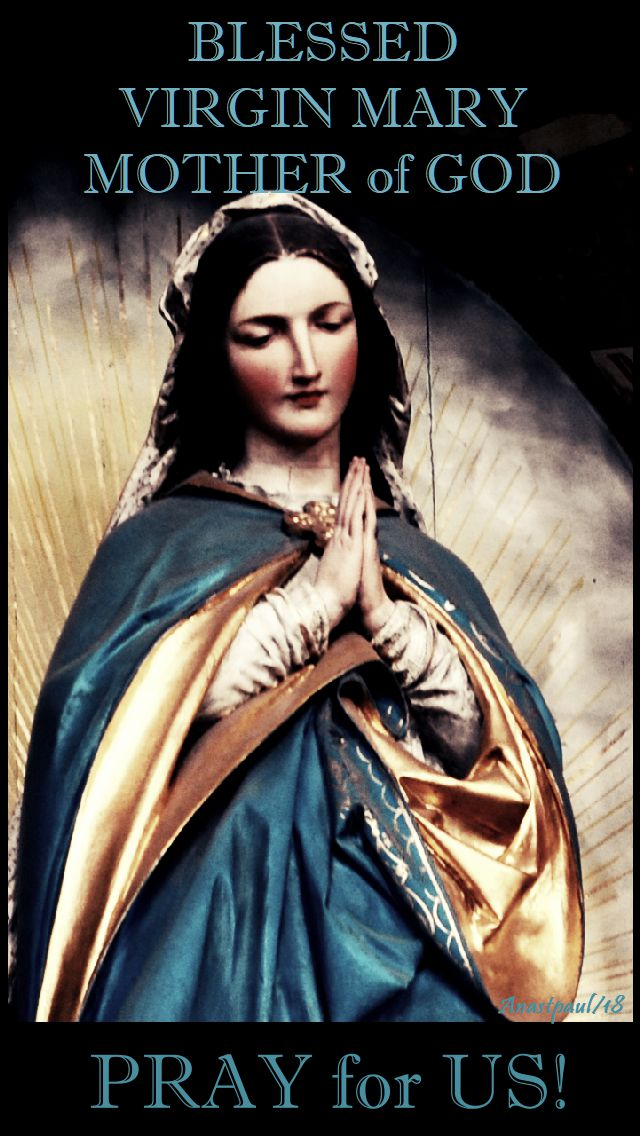 blessed virgin mary mother of god pray for us 26 nov 2018