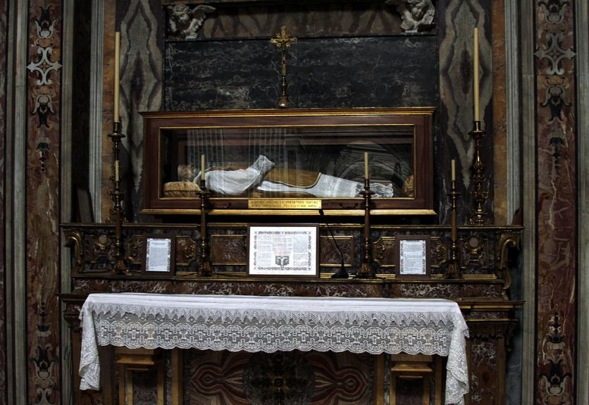 Body of St Andrew Avellino at the Theatine Church of St Paul in Naples