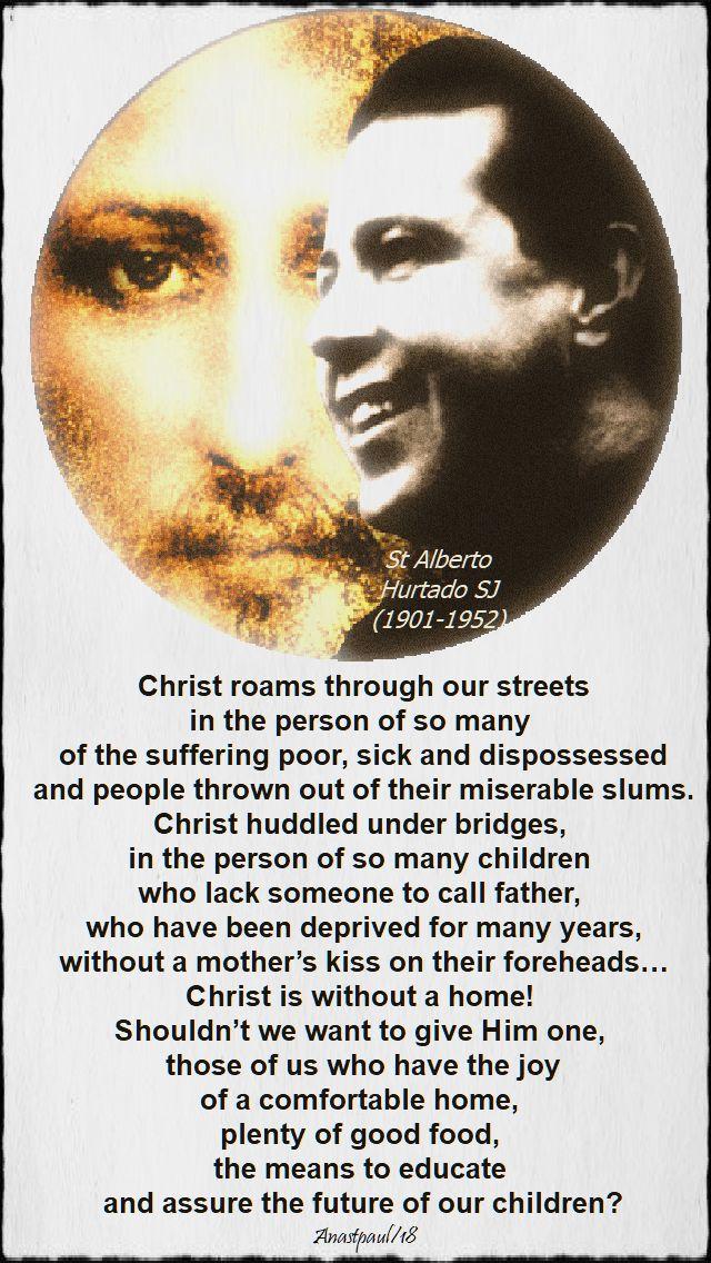 christ roams through our streets - st alberto hurtado - 5 nov 2018 all jesuit saints.jpg