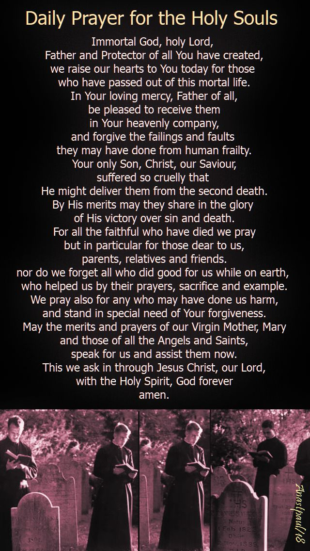 daily prayer for the holy souls - 2 nov 2018