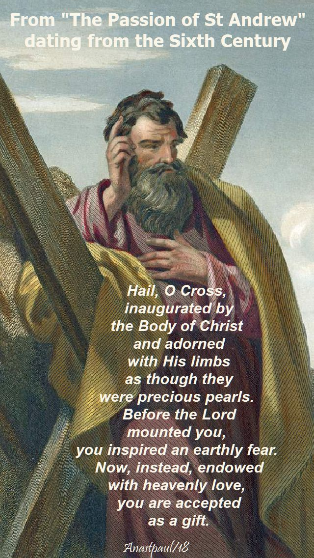 hail o cross - from the passion of st andrew - 30nov2018