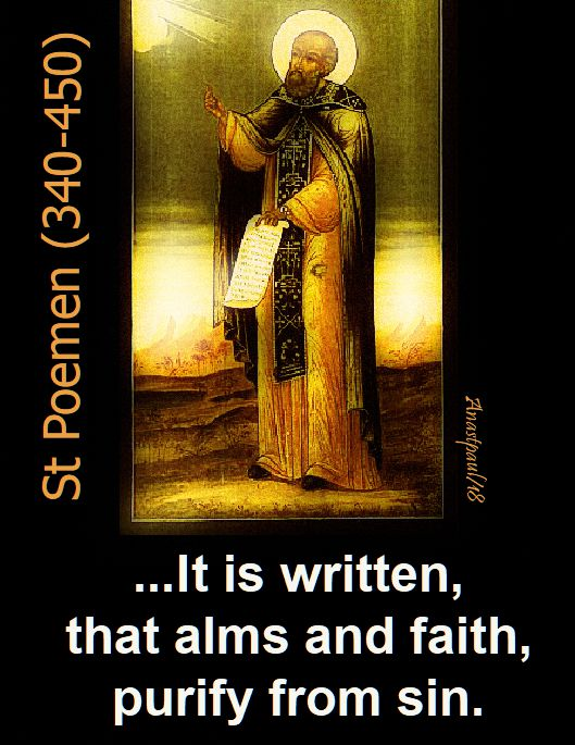 it is written that alms - speaking of alms - st poemen - 26 nov 2018