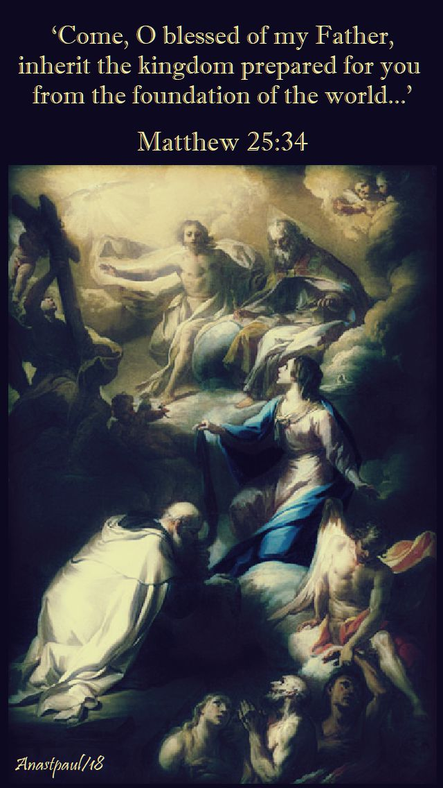 matthew 25 34 come o blessed of my father - 2 nov all souls day