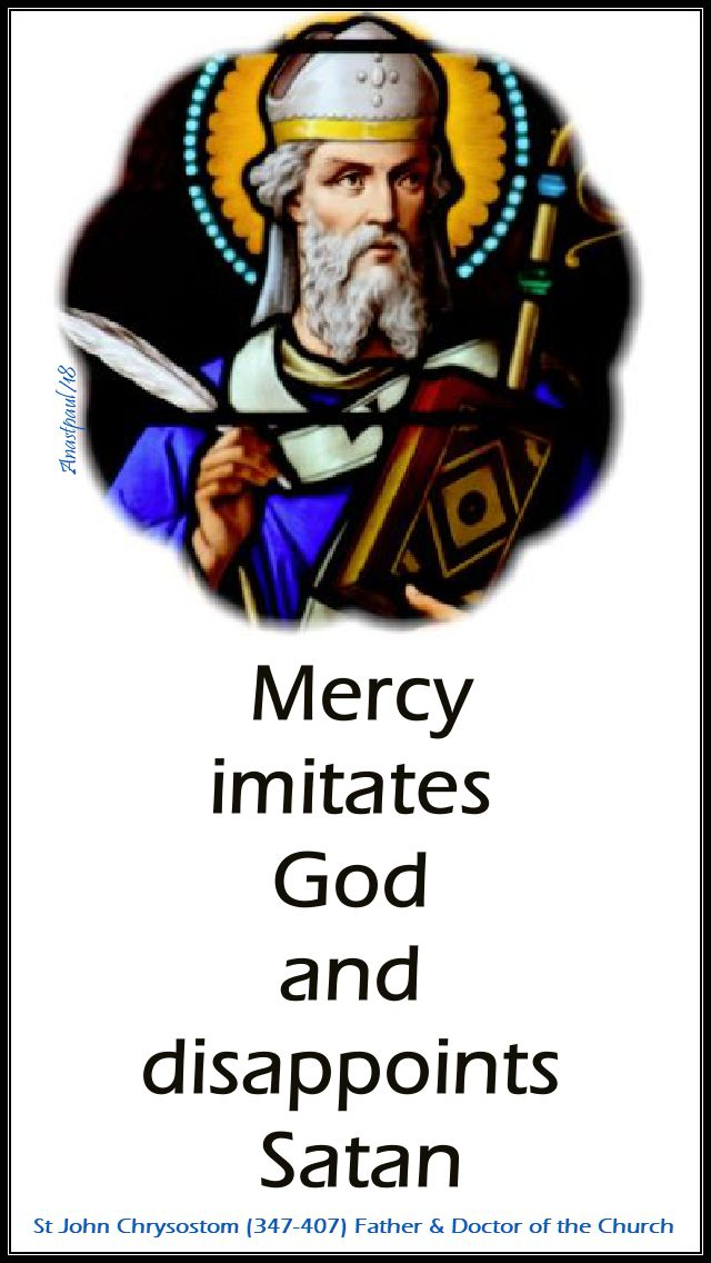 mercy imittes god - st john chrysostom - 17 nov 2018